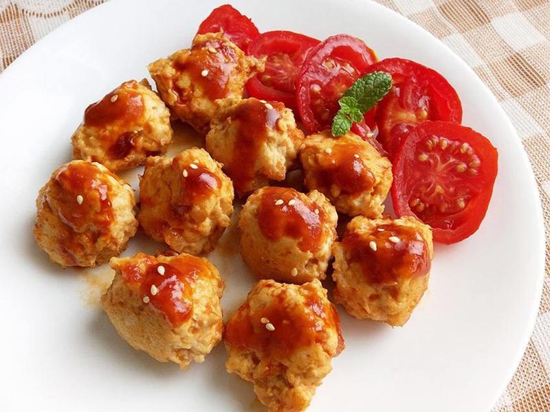 茄汁雞球♥