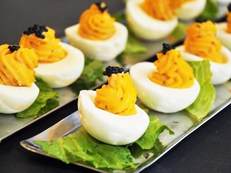 [奶蛋素] 魚子醬惡魔蛋 Deviled Eggs Caviar