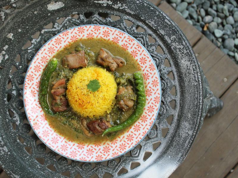 【小磨坊】綠咖哩薑黃飯