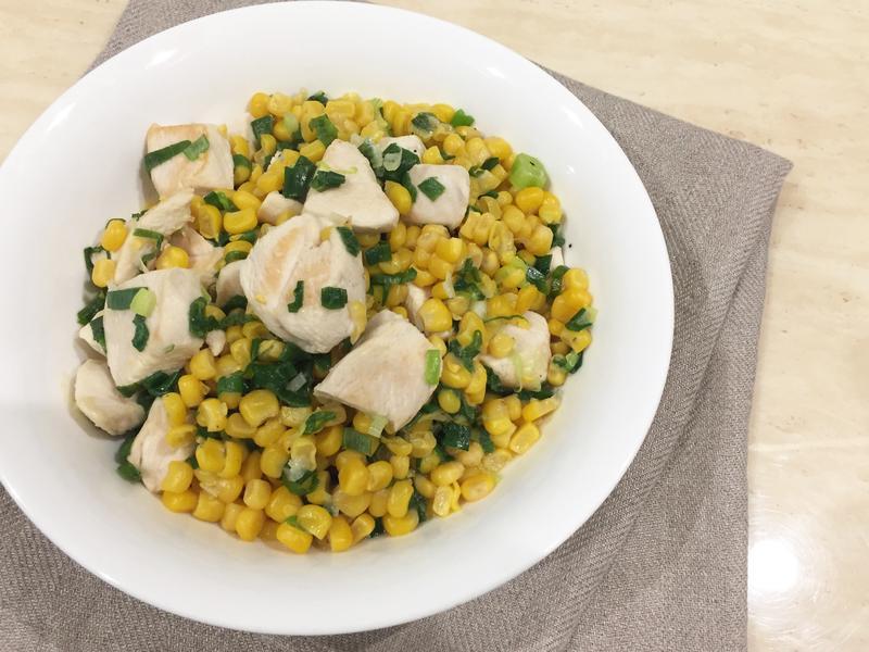 蔥爆玉米雞,高蛋白食譜(影片)