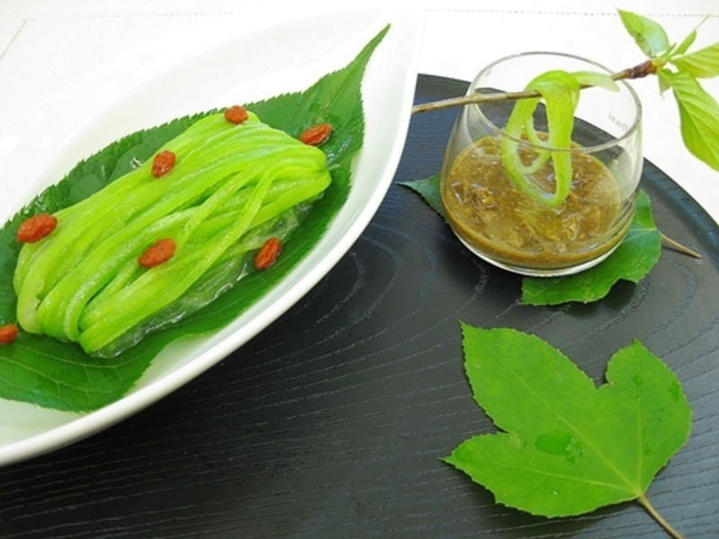 絲瓜做翡翠麵
