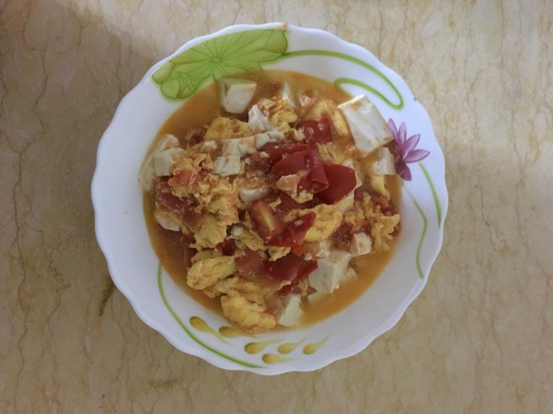 素食 豆腐番茄炒蛋