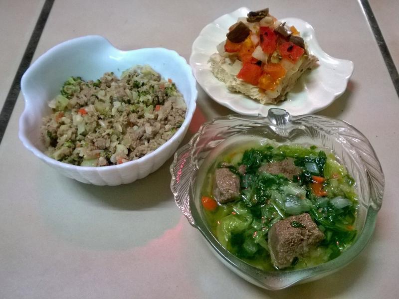 鮮食🐾豆漿燉飯 蔬菜烤雞 波菜豬肝湯
