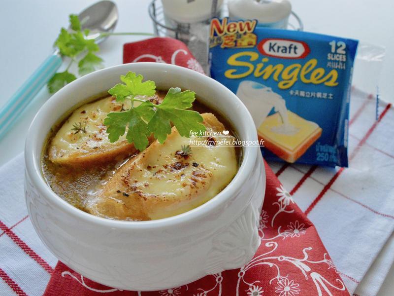 暖身法式洋蔥湯【卡夫起司片】