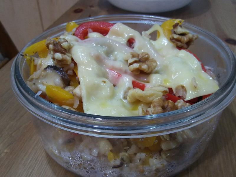 彩椒雞焗烤(五穀飯)
