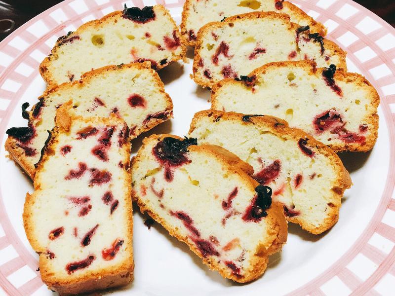 洛神花磅蛋糕-減糖版(素食可)