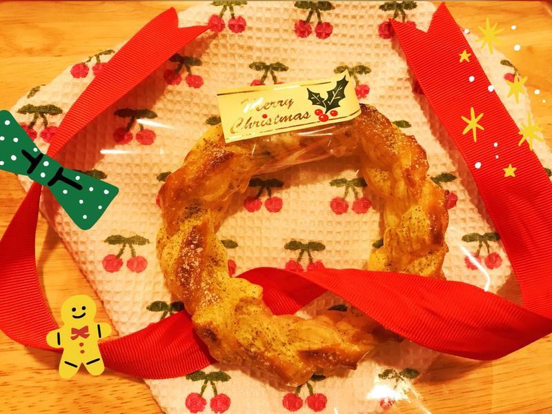 十分鐘做可頌聖誕花環(小烤箱可)