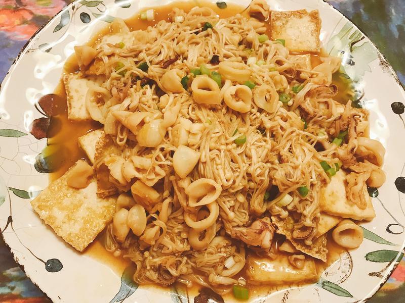 沙茶小捲佐豆腐