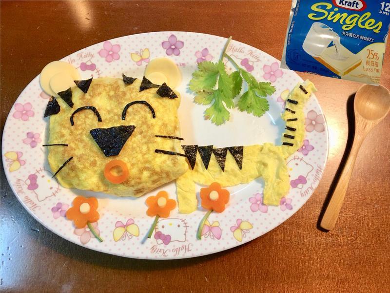 老虎起司蛋包飯