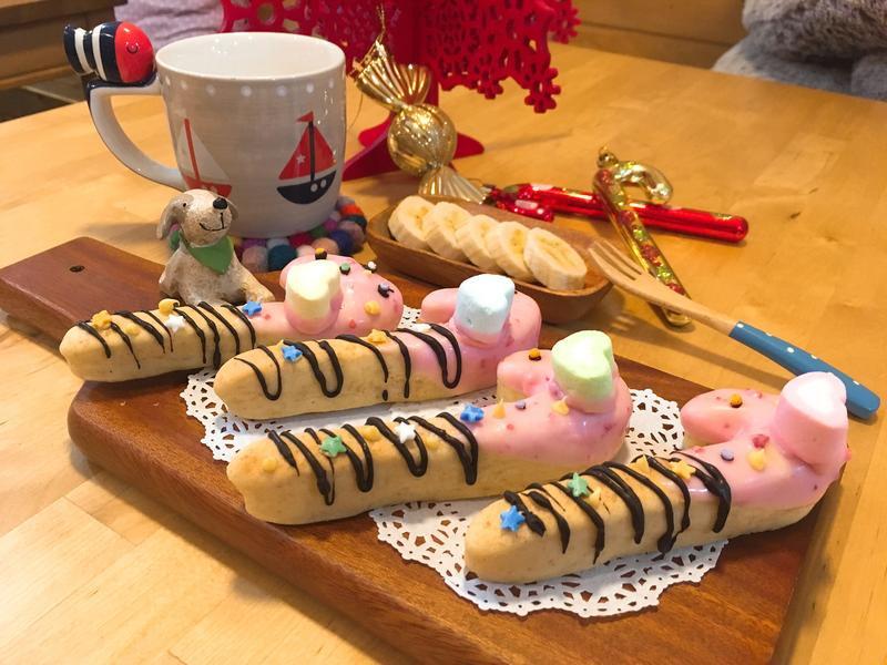 小學生早餐🥖耶誕拐杖麵包❤️