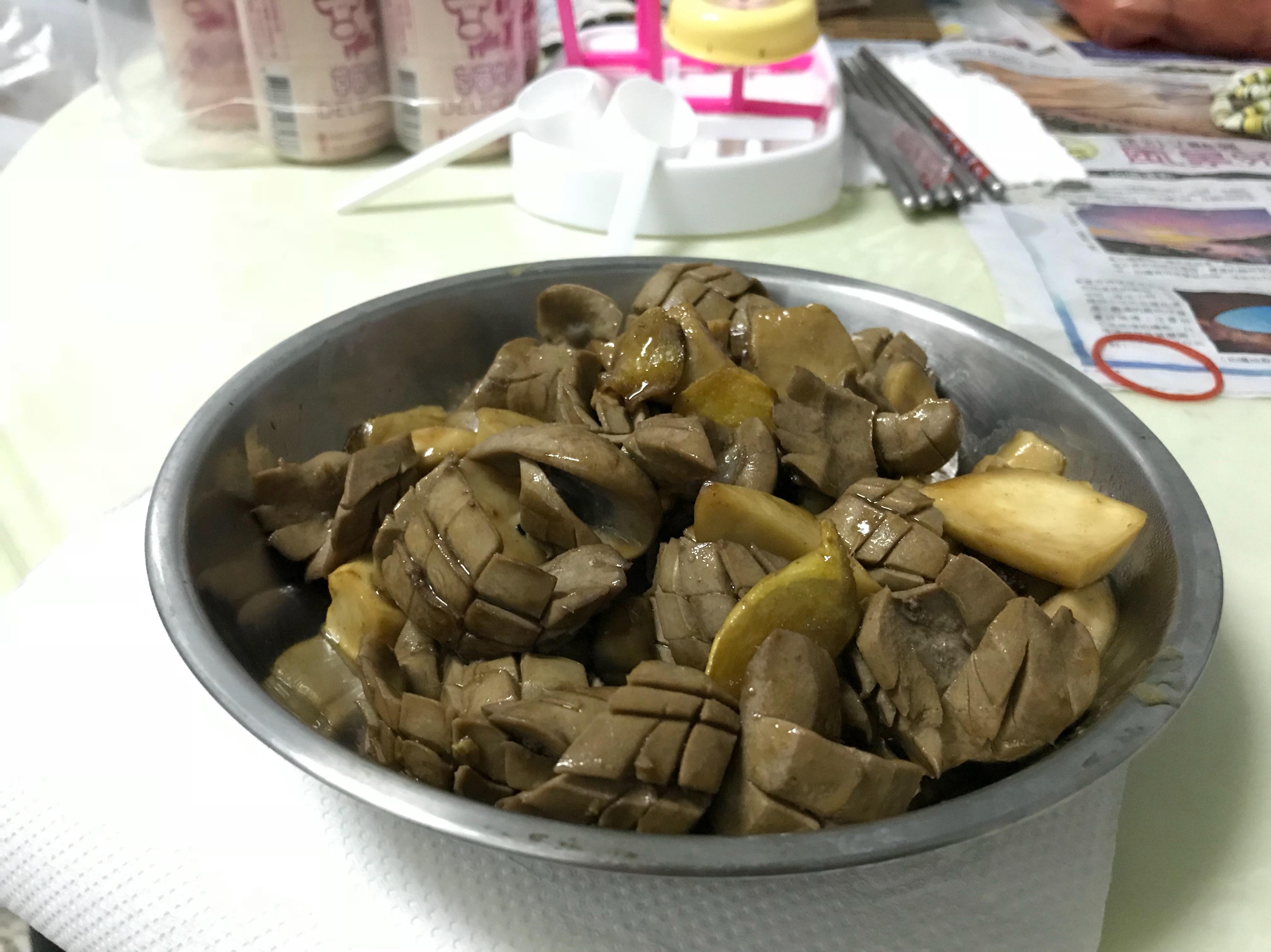 麻油炒腰子杏鮑菇