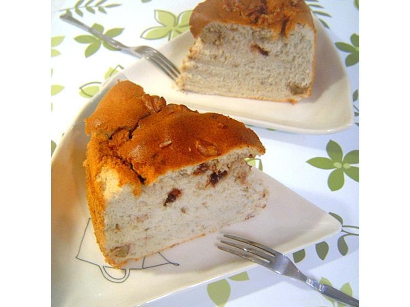 香蕉巧克力核桃蛋糕(低糖.低油)