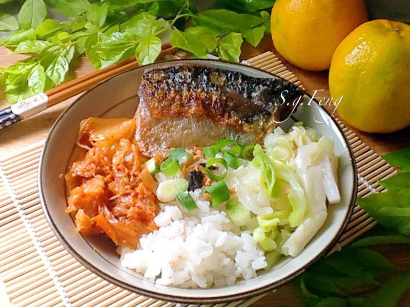 鯖魚泡菜蓋飯