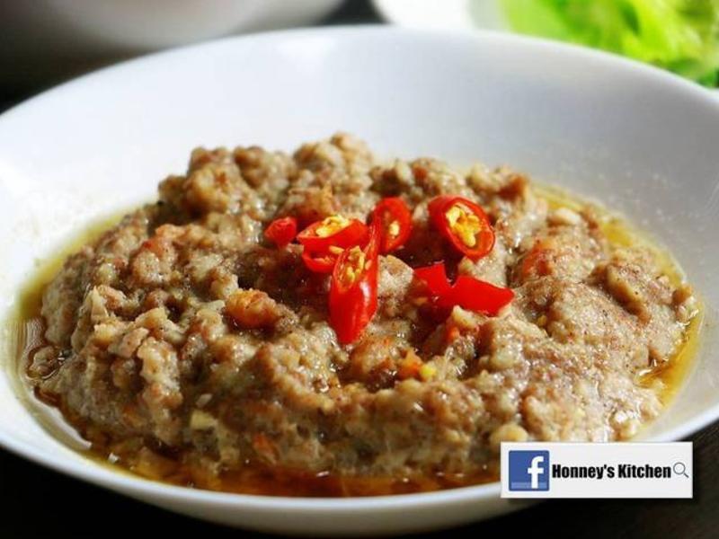 蓮藕藜麥莧籽蒸肉餅