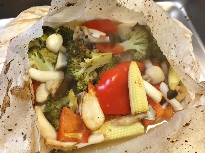 紙包味噌烤蔬菜