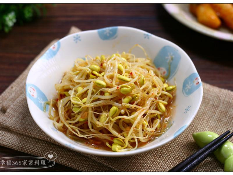 〔3分鐘小菜〕韓式涼拌黃豆芽
