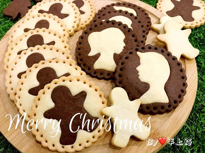 《應景聖誕》薑餅人造型雙色可可餅乾