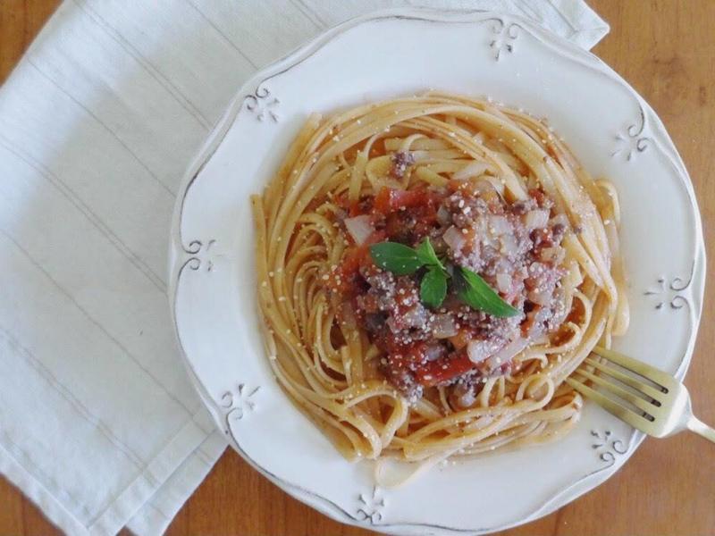 番茄肉醬麵 - 第一次感到幸福的時刻