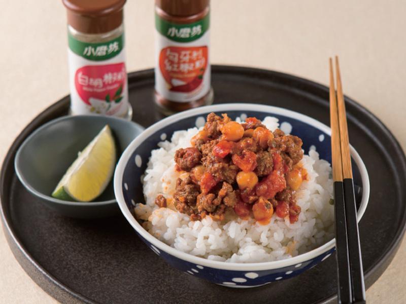 【小磨坊】墨式番茄風味雞豆肉飯