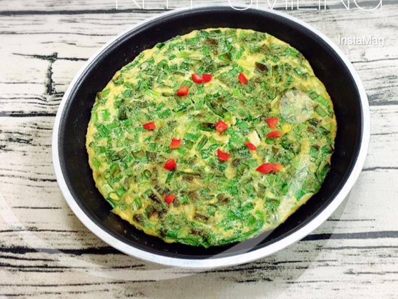 煎蔥蛋(水波爐料理)