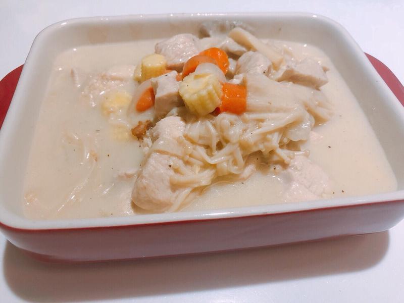 奶油菇嫩雞~零廚藝懶人料理