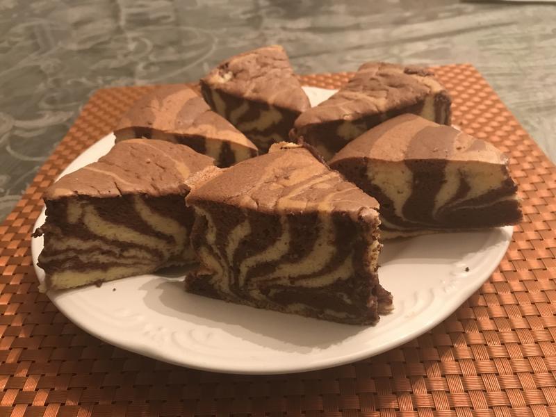 斑馬紋酸奶蛋糕