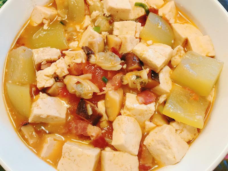 蛤蠣瓠瓜豆腐煲