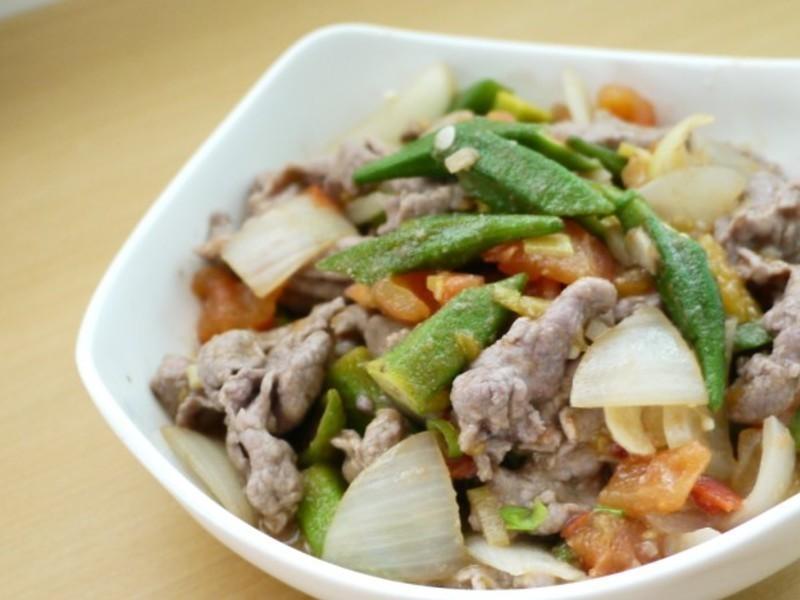 力力隨意煮-抗氧化料理之番茄秋葵炒牛肉