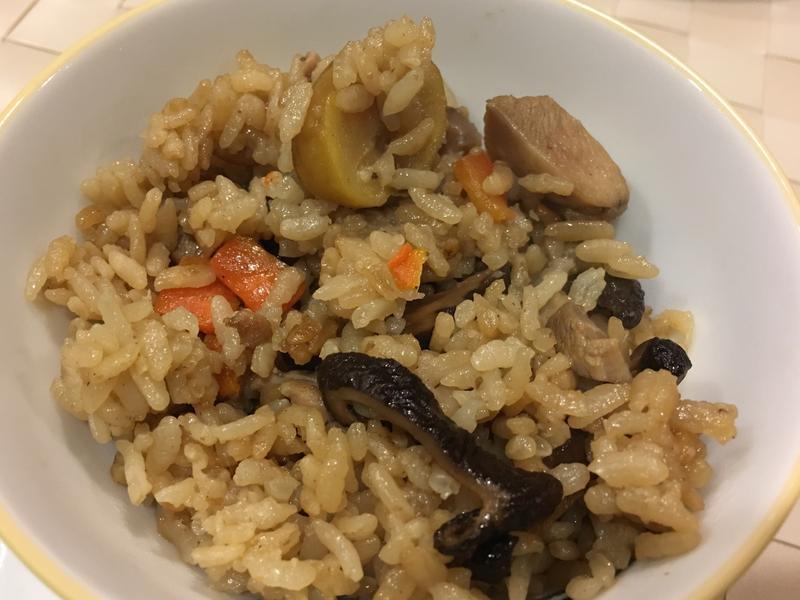 栗子土雞腿炊飯