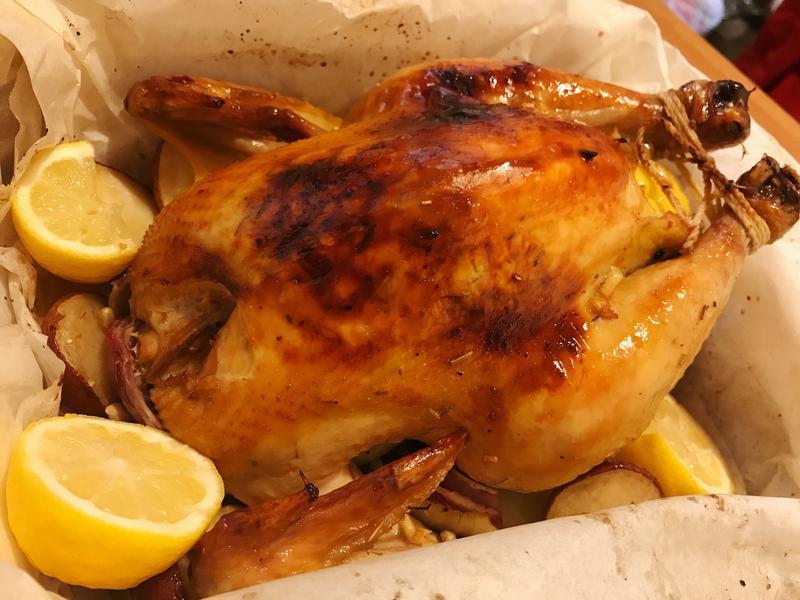 紙包楓糖檸檬烤雞