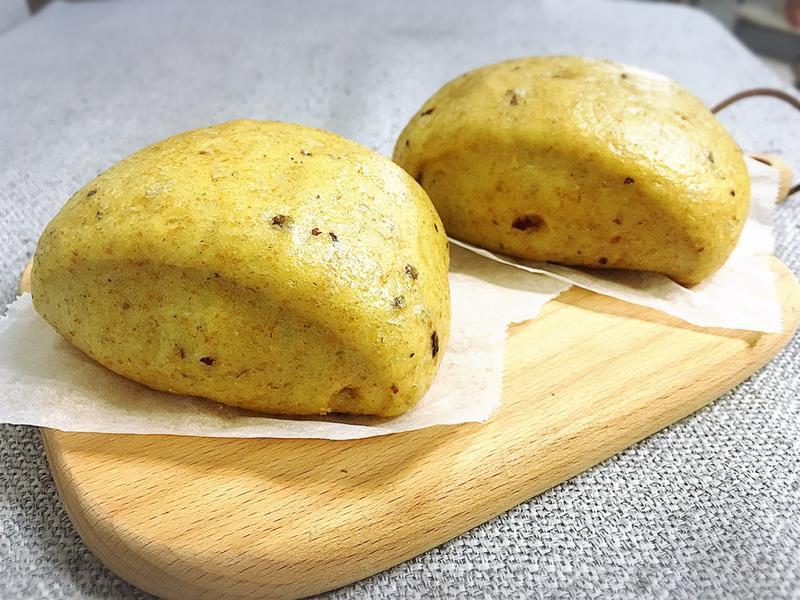 (全麥)南瓜蔓越莓饅頭-麵包機版