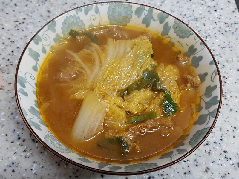 (韓式)白菜大醬湯 배추된장국