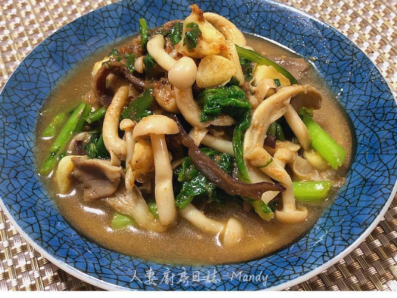 沙茶菇菇炒雙蒿【下酒菜】【不一樣家常菜】