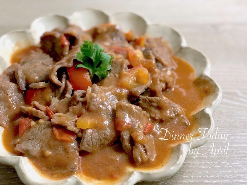 茄汁炒牛肉