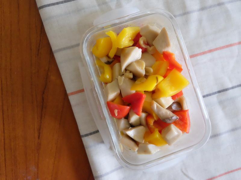常備菜#3 - 杏鮑菇炒紅黃椒
