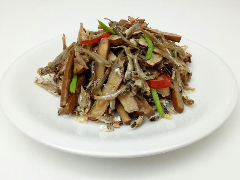 【烤箱版】低油香酥豆干炒小魚干