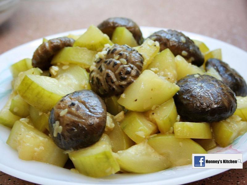 毛瓜炆冬菇