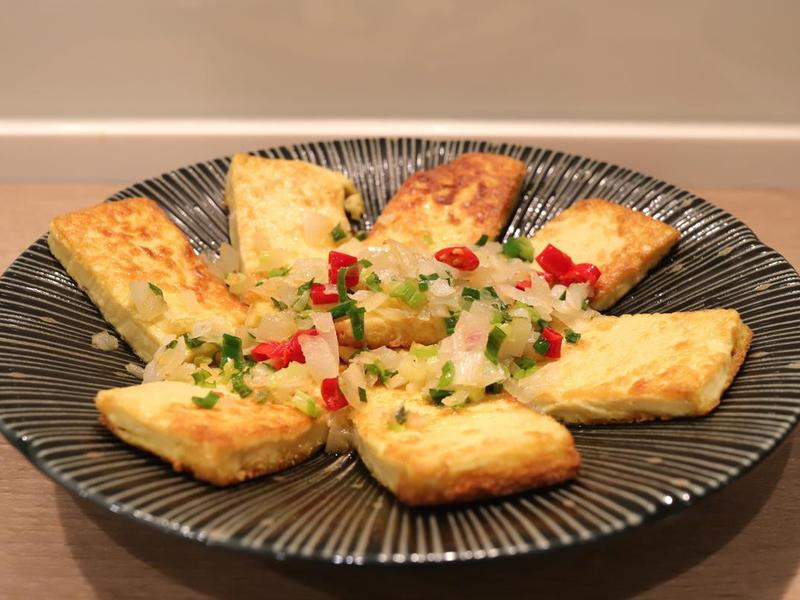 香蒜煎豆腐-仿香蒜雞排的做法