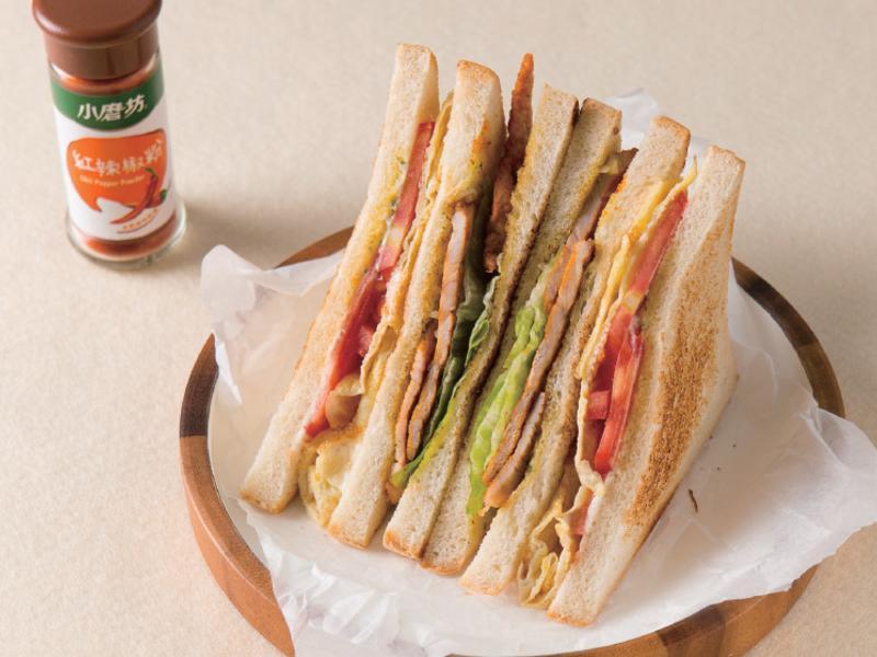 【小磨坊】歐風烤豬排三明治