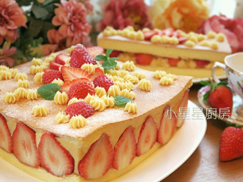 娜娜豪華卡士達草莓蛋糕