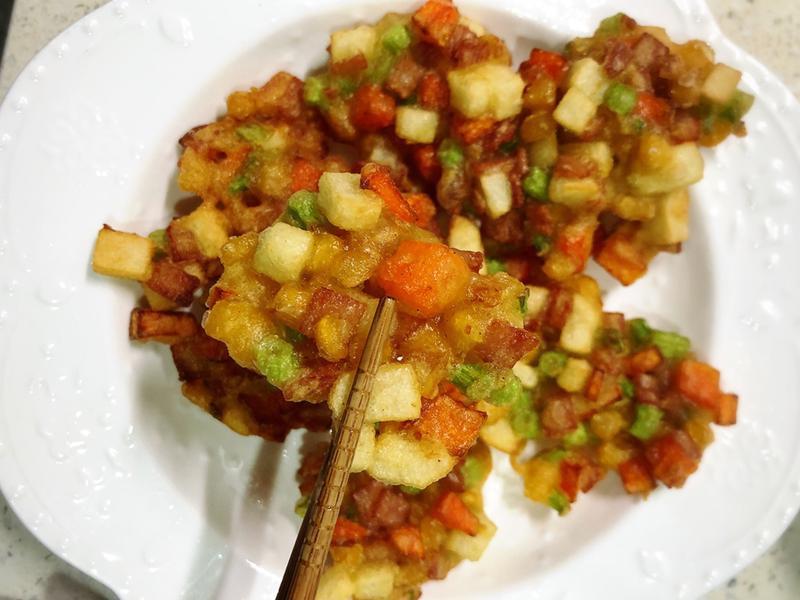 丁丁料理-炸蔬菜餅2