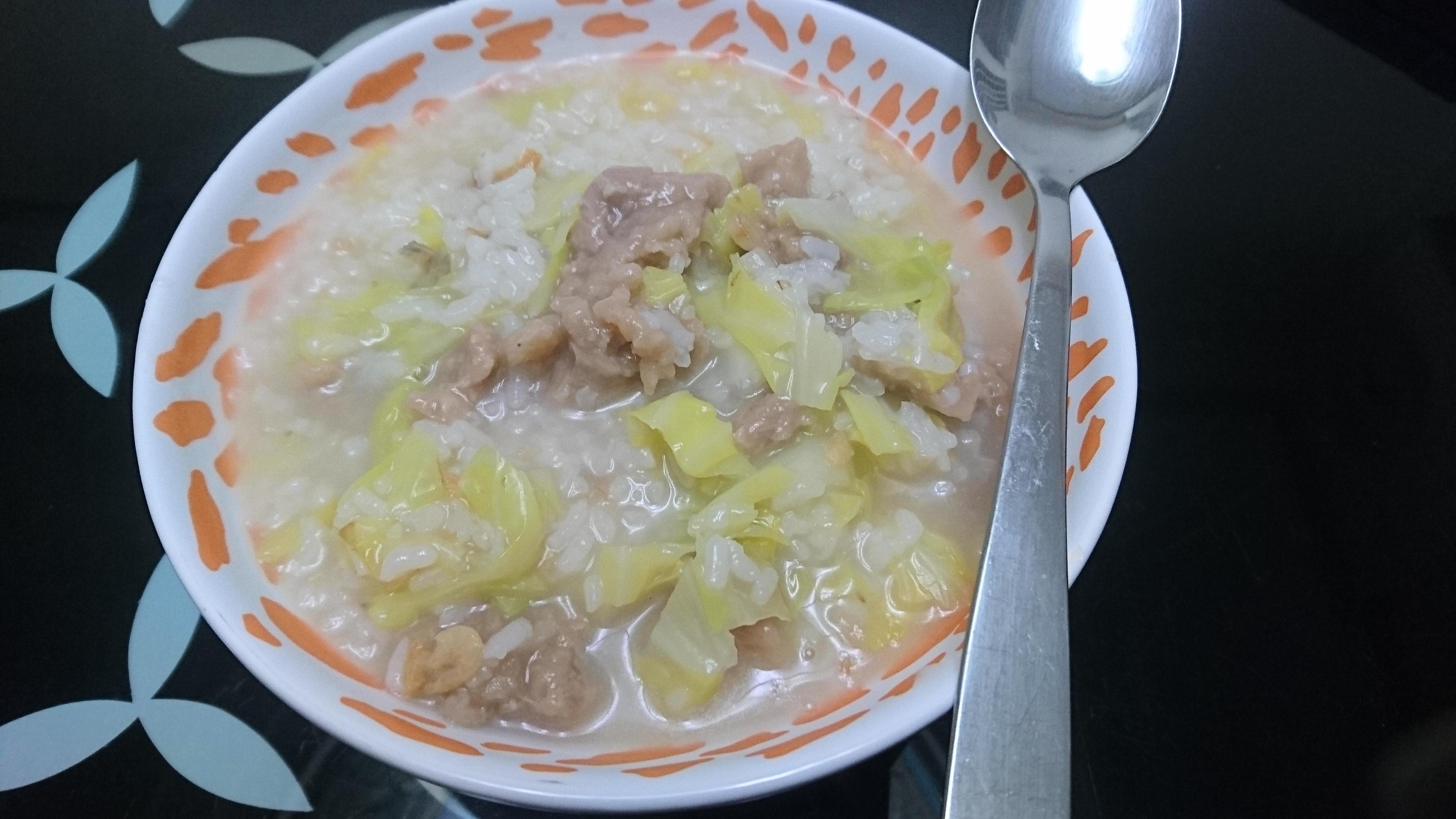 高麗菜肉羹粥