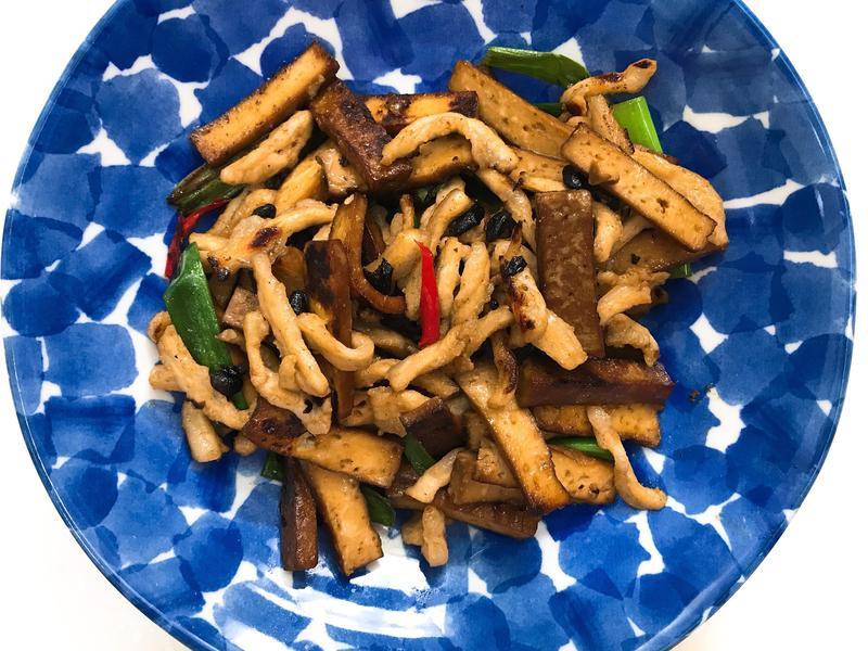 お弁当-171212-雙豆炒肉絲