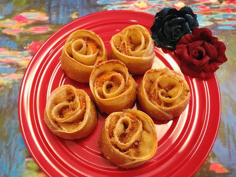 自製美味變異點心- 烤糖心玫瑰