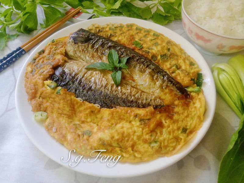香煎鯖魚蔥花蛋