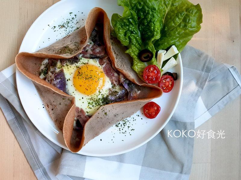 法式高纖蕎麥培根蛋薄餅(Galette)