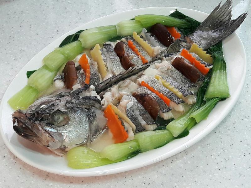 超簡單年菜料理~清蒸鱸魚麒麟鱸魚 清蒸魚