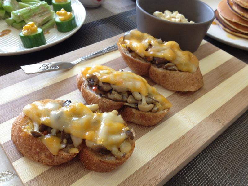 菇菇起司法國麵包