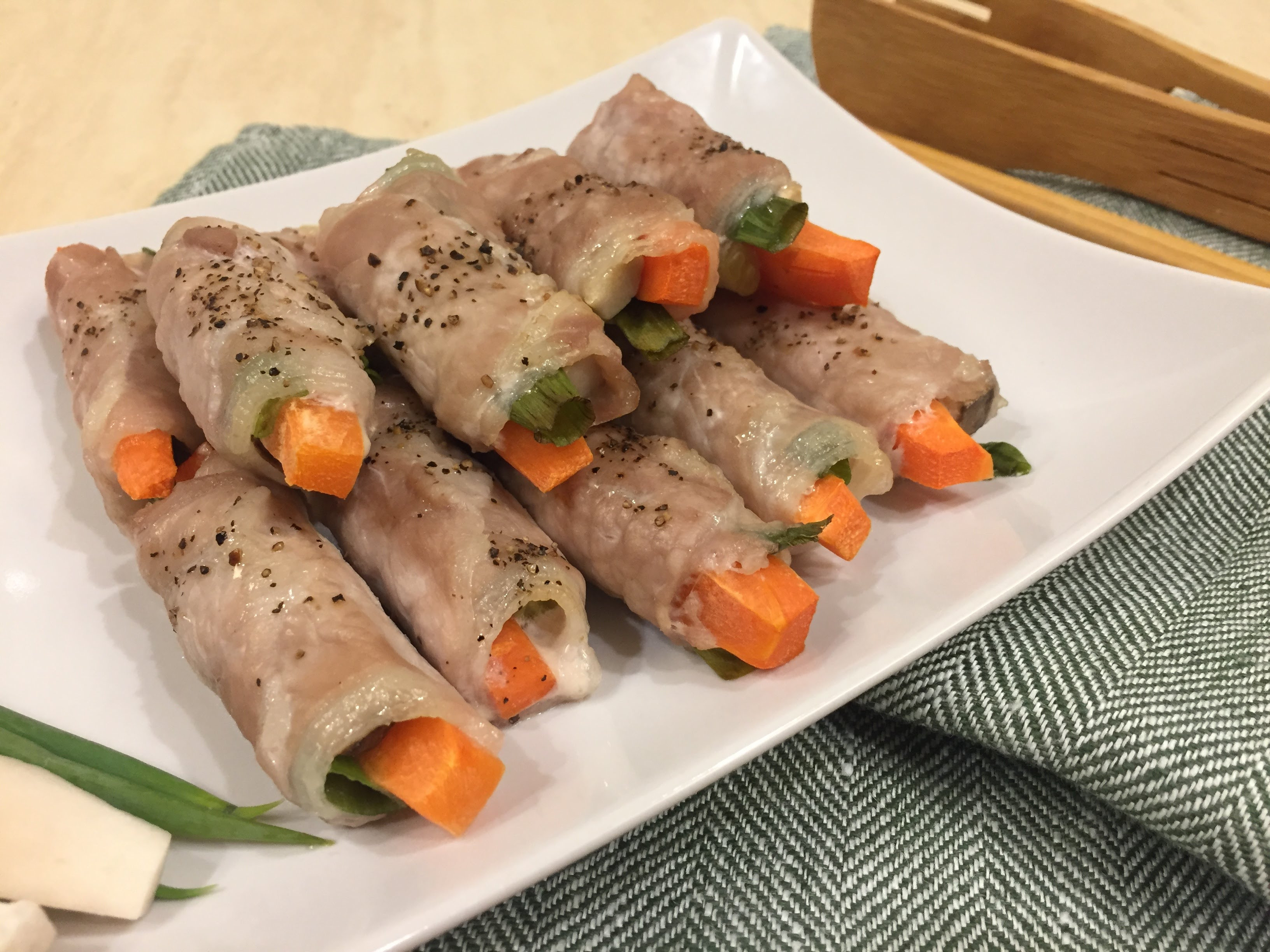 野菜豬肉捲(影片)