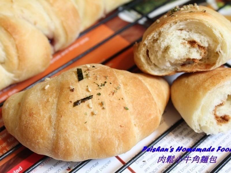 基本又百變的麵包 (肉鬆小牛角)